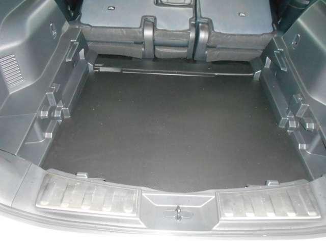 汚れや水濡れを気にせず荷物を積み込める。大容量ラゲッジで充分な収納力を確保