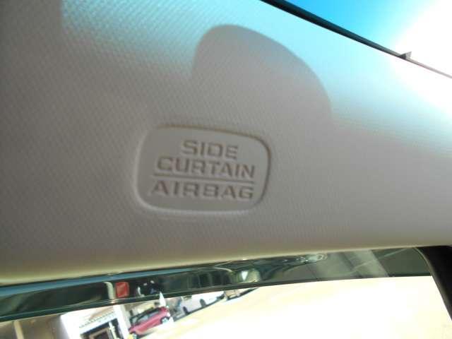 ≪サイド+カーテンエアバッグ≫万が一、側面からの衝突時にも、該当する側面の座席サイドと前席サイド上部からもエアバックが開いて安心です(^-^)/