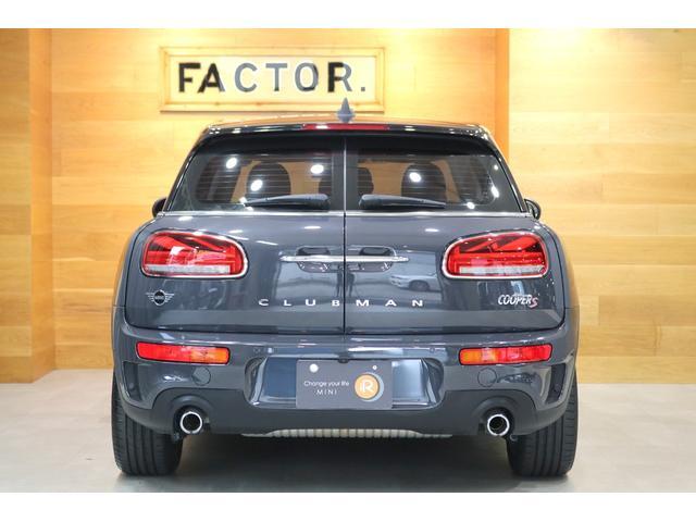 クーパーS クラブマン 後期モデル ACC 衝突軽減ブレーキ パーキングアシスト バックカメラ 前後PDC コンフォートアクセス ドライビングモード LEDライト UKテール SOSコール ETCミラー ドラレコ 新車保証(6枚目)