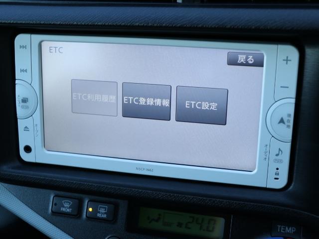トヨタ アクア S ワンセグTV バックカメラ 1オーナー