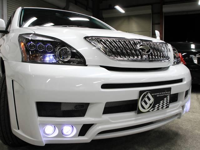 トヨタ ハリアー 240G Lパケ ナビ New3連ライト Newフルエアロ