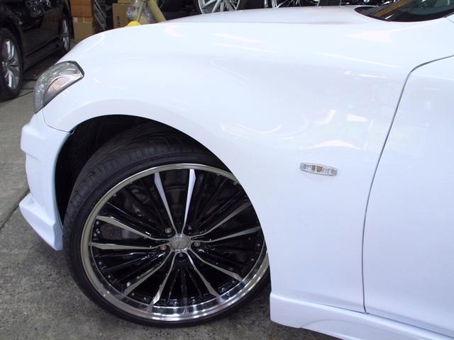 日産 フーガ 250GT 黒半革 HDDマルチ 新品フルエアロ 新品アルミ