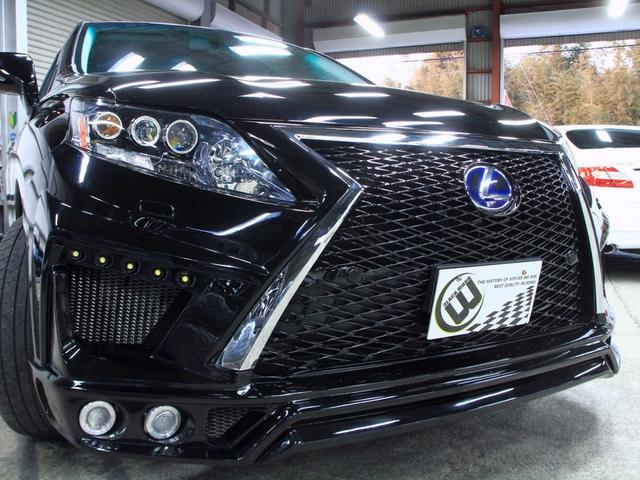 RX450h バージョンL 黒革SR 現行フェイス新品エアロ(6枚目)