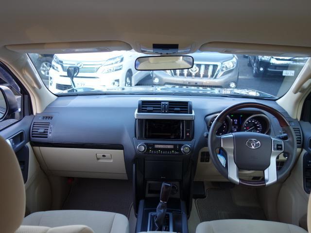 トヨタ ランドクルーザープラド TX 1オーナー 純正ウッドコンビハンドル 純正ルーフレール