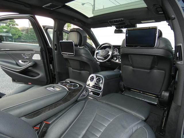 S550ロング AMGスポーツPKG ショーファーPKG リアセーフティPKG 左H RSP 黒革 PSR ナビTVBカメラ リアエンタ ディストロ Burmester パワーシート&ステアリング/シートヒーター ベンチレーター キーレスゴー 19AW(18枚目)