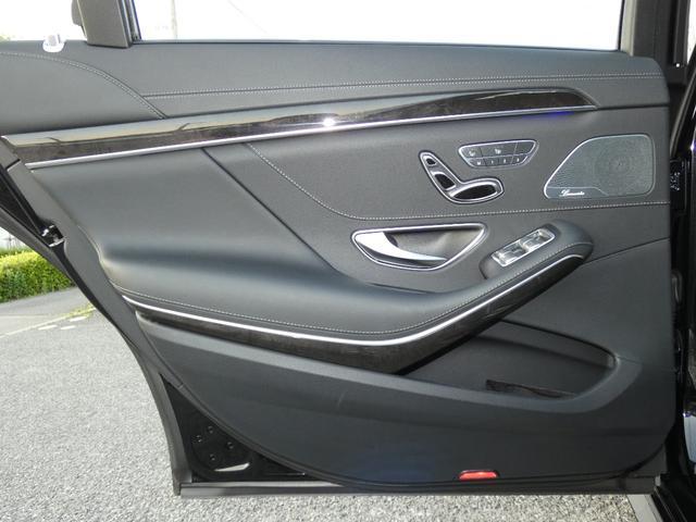 S550ロング AMGスポーツPKG ショーファーPKG リアセーフティPKG 左H RSP 黒革 PSR ナビTVBカメラ リアエンタ ディストロ Burmester パワーシート&ステアリング/シートヒーター ベンチレーター キーレスゴー 19AW(35枚目)