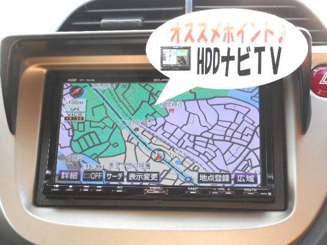 これはお買い得!使い勝手の良さで人気のイクリプス製HDDナビ、AVN770HDを装備!演奏したCDを自動録音出来るミュージックサーバー機能付!フルセグ地デジも内臓ですから走行中のTV視聴もご安心下さい