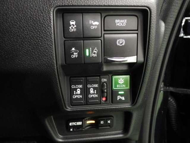 ハイブリッドアブソルート・EXホンダセンシング 9inナビマルチビュー 前後ドラレコ クルコン 電動シート ワンオーナー 衝突軽減B ナビTV ETC フルセグ LED Rカメ 両側電動SD 全周囲カメラ スマートキー メモリーナビ Pアシスト(18枚目)