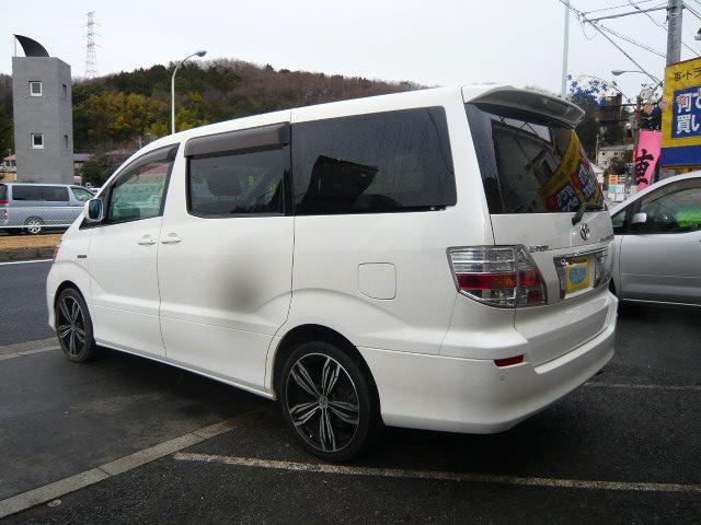 トヨタ アルファードハイブリッド Gエディション フルタイム4WD ウッドコンビハンドル