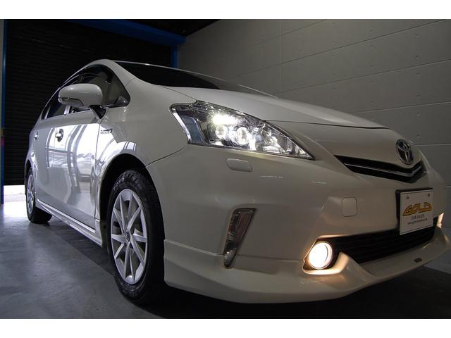 トヨタ プリウスアルファ S LEDヘッドライト モデリスタフルエアロ 純正HDDナビ