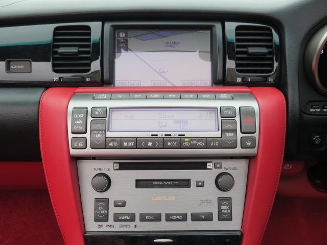 430 後期型 純正HDDナビ 赤革 マークレビンソン(4枚目)
