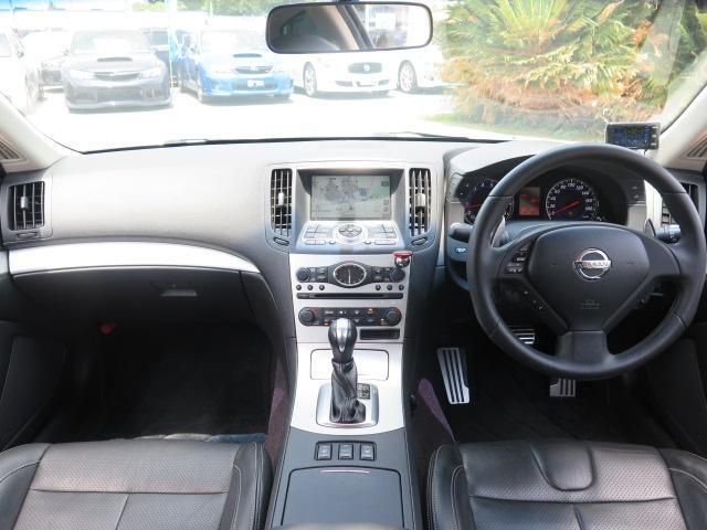 日産 スカイライン 370GT タイプSP 純正HDD 黒革 BOSE 車高調