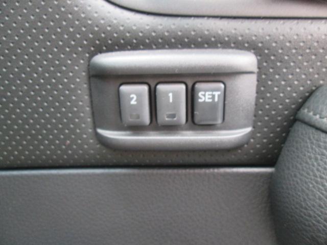 運転席シートはメモリー機能が付いて2名迄記憶できます