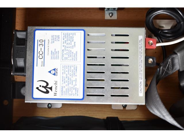 外部充電器も装備しておりますので、駐車時も電源確保で充電可能です!