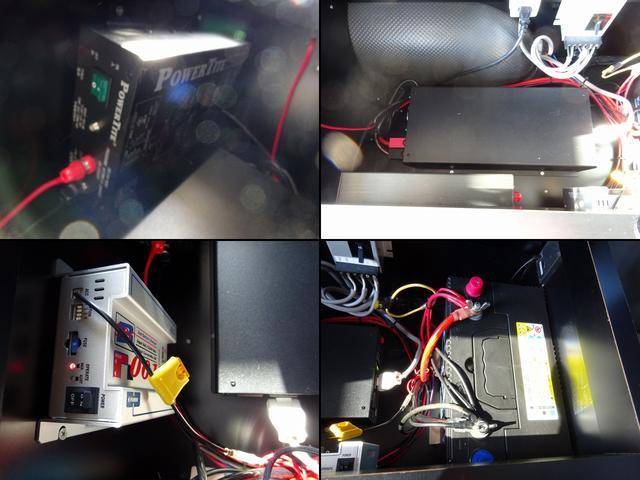 キャンピングカー バンコン ダイレクトカーズ製 冷蔵庫 サブBT 走行充電 外部電源・充電 冷蔵庫 シンク・ポリ容器 8ナンバー レンジ ベンチシート リアクーラー・ヒーター インバーター(11枚目)