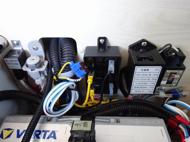 キャンピングカー バンコン アネックス ファミリーワゴンSS ナビ電源SW 後席11インチモニター 350Wインバーター サブBT 走行充電 外部電源・充電 DC・AC冷蔵庫 シンク・ポリ容器(54枚目)