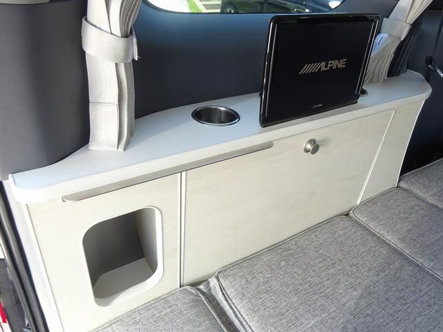 キャンピングカー バンコン アネックス ファミリーワゴンSS ナビ電源SW 後席11インチモニター 350Wインバーター サブBT 走行充電 外部電源・充電 DC・AC冷蔵庫 シンク・ポリ容器(59枚目)