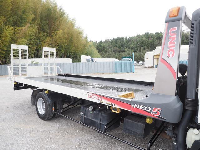 車載車 積載3トン ワイドボデー スムーサー 歩み板付き(8枚目)