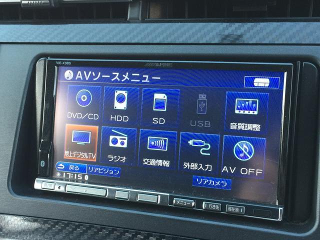 Sツーリングセレクション・G's 社外HDDナビ CD DVD再生 バックカメラ 地デジTV  HIDオートライト クルーズコントロール スペアキー ETC 純正18インチAW(5枚目)