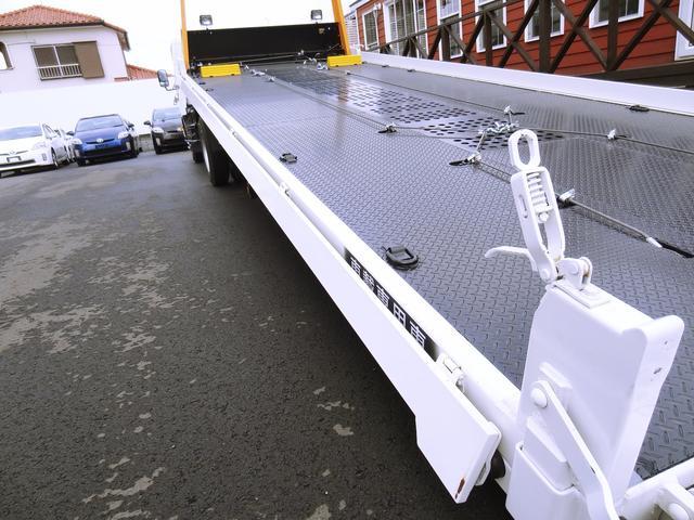 積載車 古河ユニック 超超ロング 開閉式横あおり・固ばく装置(6枚目)