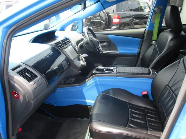トヨタ プリウスアルファ G エアサス エアロ 20AW マフラー 内装張替 ナビ