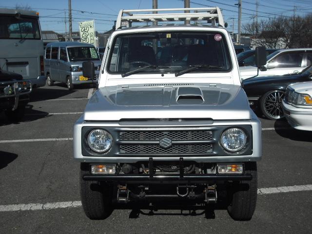 ワイルドウインドリミテッド 4WDターボ FRバンパー ルーフラック 黒革調シートカバー AW(3枚目)