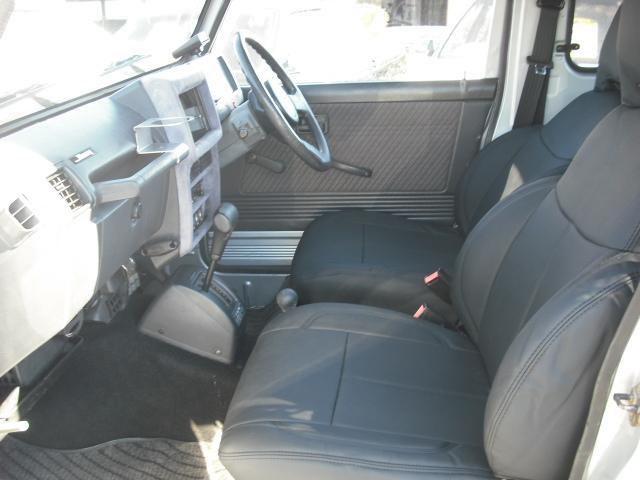 ワイルドウインドリミテッド 4WDターボ FRバンパー ルーフラック 黒革調シートカバー AW(15枚目)