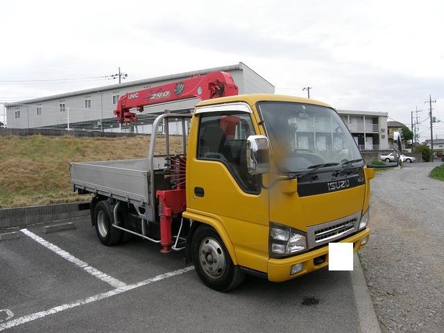 いすゞ エルフトラック 2トン 3段クレーン フックイン