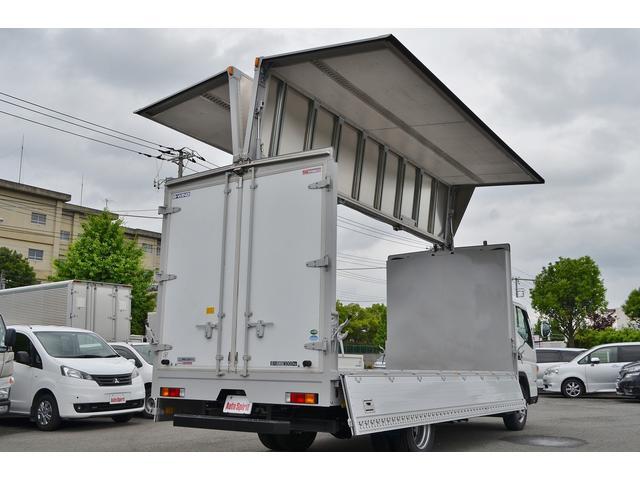 積載3t ワイドロング全低床 アルミウイング 衝突軽減装置(4枚目)