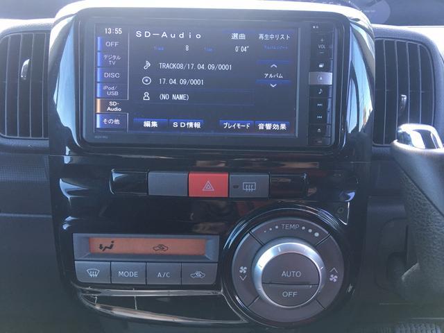 ダイハツ タント カスタムRSターボ 自動ドア SDナビ フルセグTV ETC
