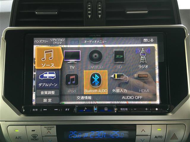 TX Lパッケージ サンルーフ 革シート 4WD 社外メモリナビ フルセグTV DVD CD SD Bluetooth ルーフレール ドラレコ ビルトインETC バックカメラ エアシート 3列目自動シート 純正17AW(4枚目)