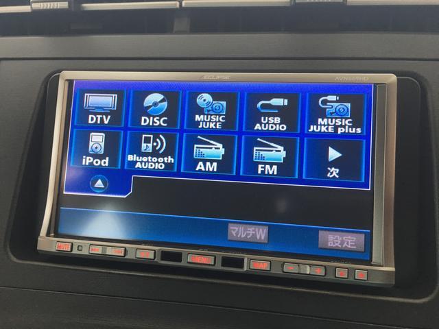トヨタ プリウス Sツーリングセレクション/革調シートカバー/HDDナビ