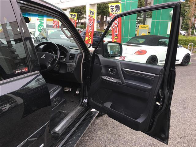 三菱 パジェロ ロング スーパーエクシード 4WD 本革シート ETC