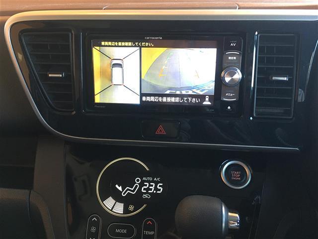 ハイウェイスター X Gパッケージ 衝突軽減ブレーキ 社外メモリナビ CD DVD SD BT フルセグテレビ バックカメラ(ルームミラー連動) 360度カメラ 両側パワスラ キセノンライト プッシュスタート スマートキー ETC(14枚目)