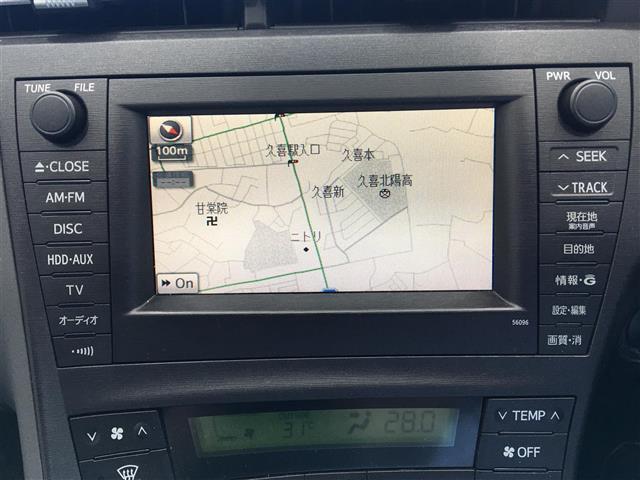 トヨタ プリウス Sツーリングセレクションワンオーナー HDDナビ LED