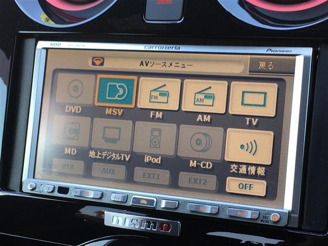 ニスモ ワンオーナー/エマージェンシーブレーキ/コーナーセンサー/スーパーチャージャー/社外HDDナビ/CD/DVD/MSV/FM/AM/LED/フォグランプ/シャークフィンアンテナ(7枚目)