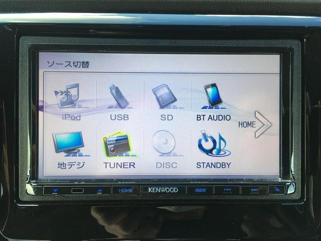 G・ターボパッケージ クルーズコントロール/パドルシフト/社外SDナビAM/FM/CD/DVD/BT/USB/iPOD/SD/フルセグTV/バックカメラ/革巻きステアリング/プッシュスタート/ETC/ウィンカーミラー(5枚目)