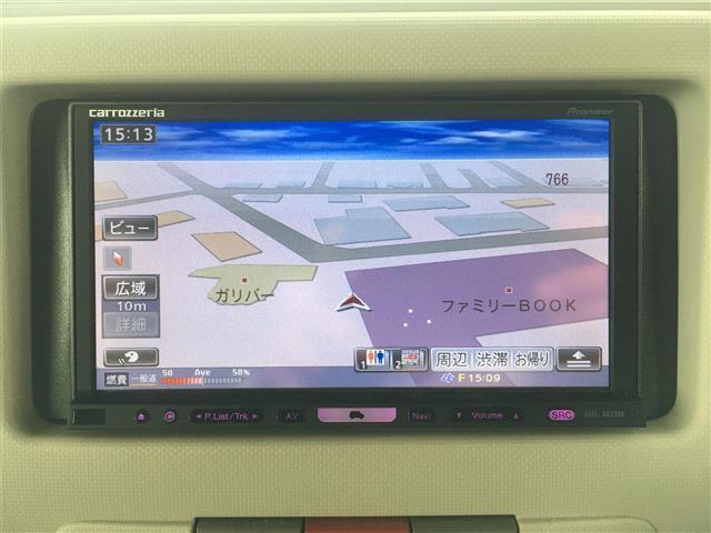 ココアプラスX HDDナビ ワンセグTV アイドリングストップ ルーフレール スマートキー(4枚目)