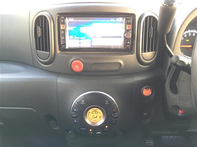 日産 キューブ 15X インディゴ+プラズマ ワンオーナー HDDナビ