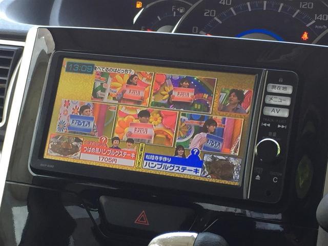 カスタムX SA 純正ナビ AM FM CD DVD SD AUX BT フルセグTV Bカメラ コーナーセンサー 衝突軽減B 片側パワスラドア ETC LEDライト フォグ A-ストップ サンシェード 14インチAW(5枚目)