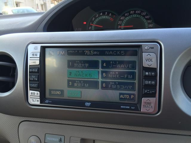 トヨタ ポルテ 130i ワンオーナー DVDナビ CD キーレス