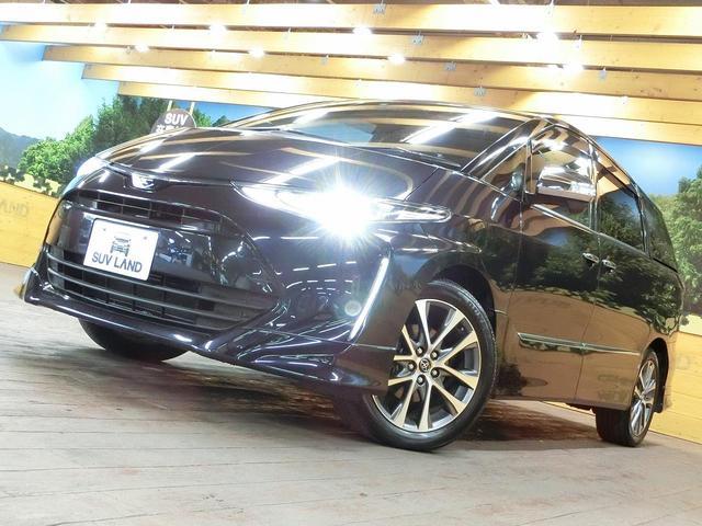 トヨタ エスティマ アエラス プレミアム-G 後席モニター 9型SDナビ 禁煙車