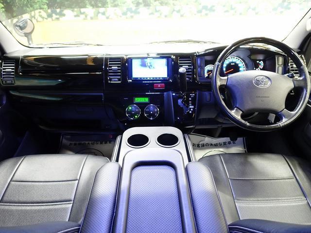 ロングスーパーGL 禁煙車 社外エアロ SDナビ 100V電源 バックカメラ ETC HIDヘッド オートライト 両側スライドドア キーレス ドアバイザー 電動格納ミラー(2枚目)