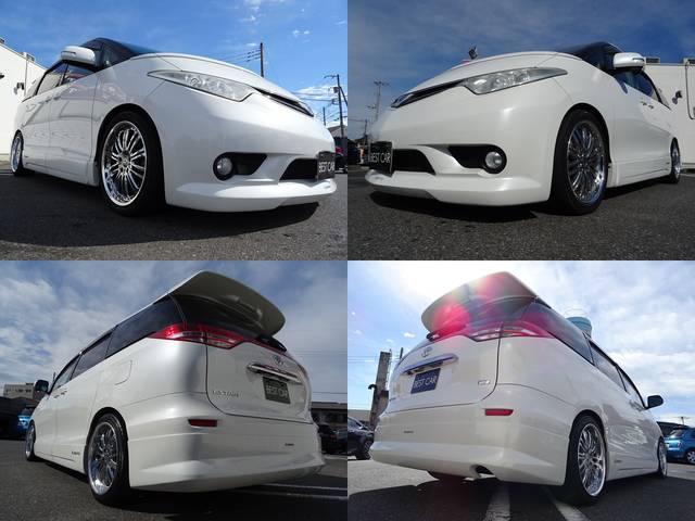 トヨタ エスティマ G 1年保証付 ケンスタイルエアロ 両側電動ドア HDDナビ