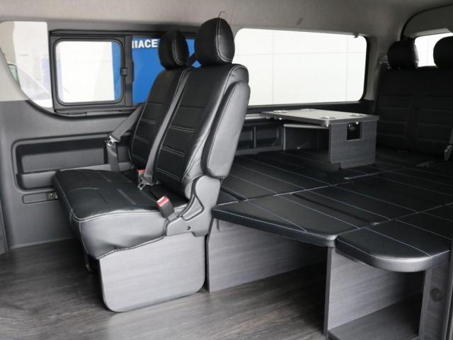 GL バージョン1内装架装 ベッドキット フローリング テーブル ナビ フリップダウンモニター FLEXカスタム ETC2.0 ローダウン アルミホイール 4WD 寒冷地 コーナーセンサー(9枚目)