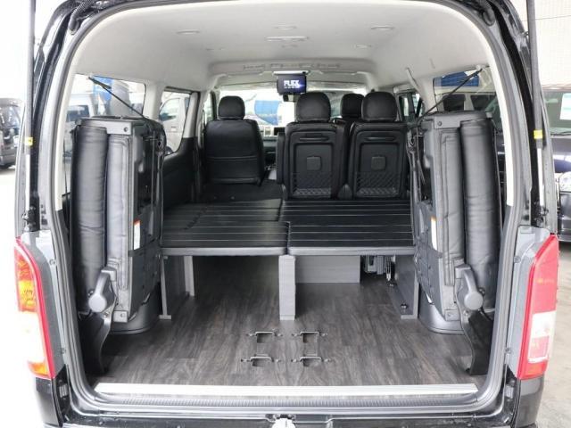 GL バージョン1内装架装 ベッドキット フローリング テーブル ナビ フリップダウンモニター FLEXカスタム ETC2.0 ローダウン アルミホイール 4WD 寒冷地 コーナーセンサー(12枚目)