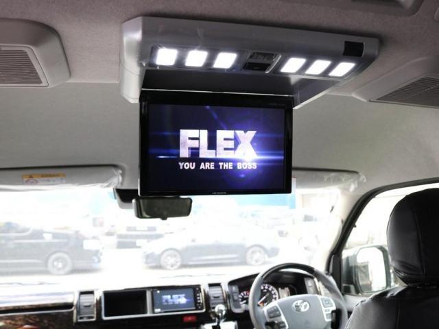 GL FLEXカスタム ナビ ETC 後席フリップダウンモニター パノラミックビューモニター デジタルインナーミラー クリアランスソナー 自動ドア スマートキー FLEXオリジナルアルミ スポイラー(6枚目)