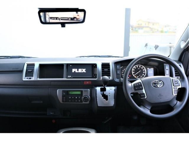 GL バージョン1内装架装 FLEX内装架装 フローリングにベッドキット ナビ フリップダウンモニター ETC パノラミックビューモニター デジタルインナーミラー パワースライドドア スマートキー(2枚目)