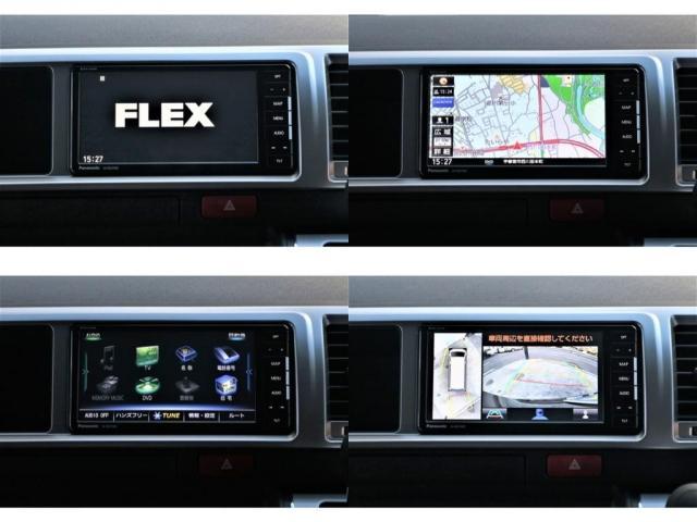 GL バージョン1内装架装 FLEX内装架装 フローリングにベッドキット ナビ フリップダウンモニター ETC パノラミックビューモニター デジタルインナーミラー パワースライドドア スマートキー(8枚目)