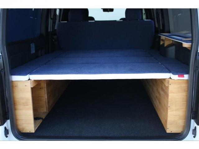 スーパーGL ダークプライムII ロングボディ クラフトプラスパッケージ デニム内装 ナビ 後席フリップダウンモニター デニムベッドキット TRDフロントスポイラー 4WD 寒冷地仕様(9枚目)